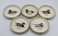 Set of 5 Vintage Duck Coasters Ceramics Porcelain