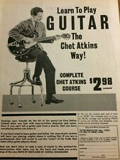 Chet Atkins, Guitar Course, Full Page Vintage Promotional Print Ad