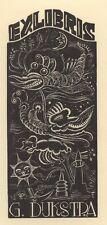 Ex Libris Cor de Wolff : Opus 14a, G. Dijkstra