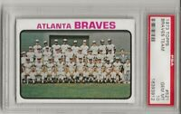 1973 TOPPS #521 ATLANTA BRAVES TEAM, PSA 10 GEM MINT, HANK AARON, CENTERED, L@@K