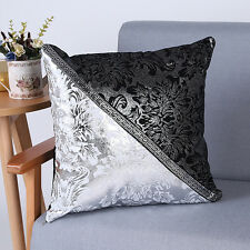 Black Silver Large Crush Velvet Diamante Chesterfield Cushions Covers 4 Colors