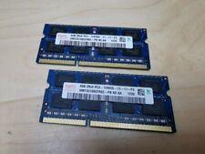 2 x 4GB PC3-12800s DDR3 Laptop Ram Memory Sodimm Lenovo Dell HP Asus Acer 8GB!