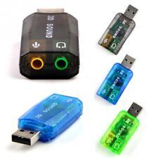 3.5mm Mini External 3D USB Sound Card 5.1 Channel Audio Card Adapter Speaker nEW