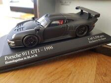 Minichamps 433966693 PORSCHE 911 GT1 1996 HOMOLOGATION MATT BLACK - MIB