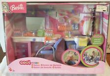 Barbie Cool Lookz Salon Playset Mattel Co555 New In Box Over 40 accessories