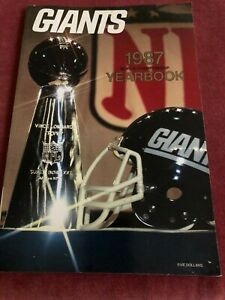 NEW 1987 New York Giants World Champions Yearbook NFL