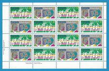 Canada Stamps 1980 17 Cent Scott* 857-858  O Canada Centenary Sheet Of 16