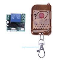Funk Wireless Relais RF 24V 1 CH 433MHZ Fernbedienung Schalter Sender +Empfänger