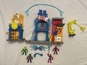 Imaginext Marvel Spiderman Web Quarters Playset w Spiderman Vulture Goblin Figs