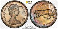 Toned Silver 1967 Canada 25 Cents Specimen Proof   PCGS PR66