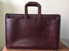 HARTMANN Vintage Burgundy Belting Leather Shoulder Attache Briefcase Bag Mens