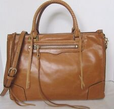 Rebecca Minkoff Regan Satchel Tote Almond Distressed Leather NWT