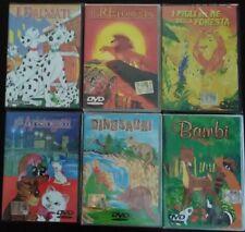 Lotto 6 DVD Cartoni Animati a scelta, ORIGINALI, NUOVI e SIGILLATI Bambi Dalmati