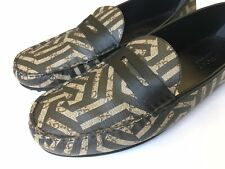 GUCCI Supreme Caleido Black Brown Penny Driver Loafers UK 13 (US 13.5) $650