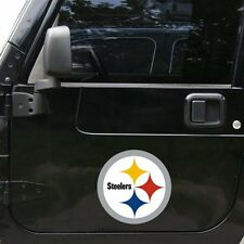 "Pittsburgh Steelers 12"" Logo Car Truck Auto Vinyl Magnet"