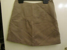 Short Brown - Gold Pattern H&M Pencil Skirt in Size 8