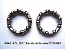 A(V31) 2 CAGES A BILLES - ROULEMENTS - POUR PEDALIER BMX VINTAGE 90's