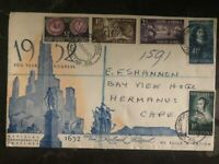1952 Capetown South Africa First Day Cove FDC 300 Years We Build A Nation