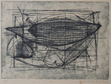 Ryonosuke Fukui Abstract etching Limited Edition 4/5 SIGNED c.1960
