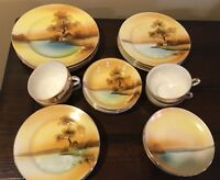 noritake tree in the meadow 24 pc, 4 place settings luncheon salad bread cups