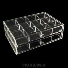 Organizer Aufbewahrungsbox Schmuckkasten mit 2 Schubladen Acryl (15h1605)