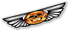 Winged Wing Emblem Flaming Gothic Skull for Motorcycle Helmet Vinyl Car sticker