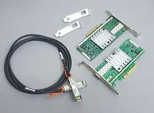 10G Netzwerk Kit 2x Intel X520-DA1 10 Gigabit NIC GBe SFP+ 3m SFP+ Kabel Cisco