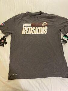 NWT Washington Redskins Nike Dri Fit Tee Shirt SS Men's XL Gray