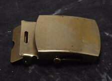 VTG Brass Tone Metal 32 MM Width Military Style Men's Belt Buckle Made USA NOS