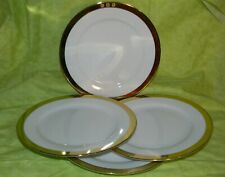"Ralph Lauren China Academy Gold Salad Plate Set of 4 8.5"" dia"