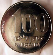 1985 ISRAEL 100 SHEQALIM - High Quality Coin - FREE SHIPPING - ISRAEL BIN