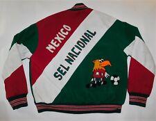 Vtg Rare MEXICO FUTBOL SELECCION NACIONAL Soccer Embroidered JACKET Men's XL