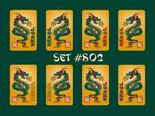 Mah Jongg Jong Mahjong Joker Stickers - Set #802 ** Free Shipping **