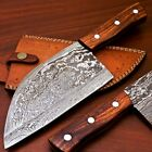 "12.25"" Damascus Steel trusted butcher knife Cleaver Chopper Heavy Dutybutcher"