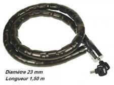 Neuf Antivol moto articulé avec gaine  diametre 23 mm longueur 1,5 m vendu avec