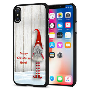 PERSONALISED Elf On The Shelf Phone Hard Case Cover For iPhone 12 065-2 Black
