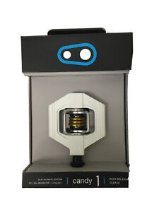 CrankBrothers Candy 1 Pedals (incl. Cleats) - White/Gold - Special Edition