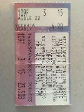 Pantera Concert Ticket
