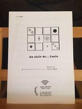 Célino Bratti Au clair de Lucie partition pour piano éditions Bratti