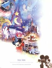 DISNEY POSTER ~ STUDIO 17x22 100 Years Of Magic Celebration Walt Disneyland