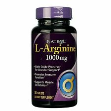 Natrol L - Arginine 1000 mg 50 Tablets New, Sealed