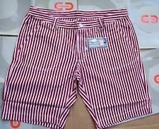 CENSURED Bermuda Uomo Pantalone corto Bianco a Righe Tg. 32