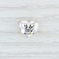 "New Authentic Pandora ""I DO"" Crew Heart Charm - ENG790137-12 Wedding Bridal"