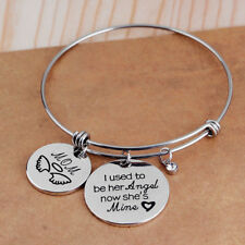 I Used To Be Her Al Now She's Mine Sweet Letter For Love Mom Bracelets Jewelry G