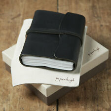 Antara Fair Trade Soft Black Leather Journal + Gift Box & Bag-2nd Quality