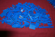 Lego Lot 200 Blue Pieces Plates Bricks Slope Window Lattice Fence