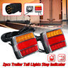 2X Magnetic 16LED Trailer Towing Lightboard Light Rear Tail Board Lamps W/ Cable