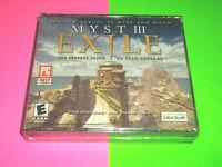 ⭐⭐ NEW / SEALED ⭐⭐ MYST III 3: EXILE WINDOWS MACINTOSH MAC CD GAME 2001 ⭐