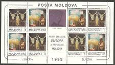 MOLDOVA Sc# 112A MNH FVF Souv Sheet Europa Art Painting Vieru Grecu