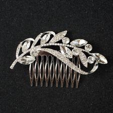 Bling Wedding Bride Bridesmaid Diamond Crystal Hair Head Comb Jewelry Gift UK